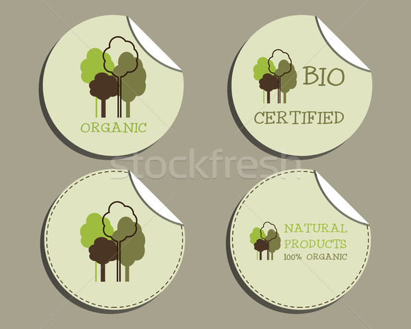 набор необычный зеленый органический Этикетки Сток-фото © JeksonGraphics