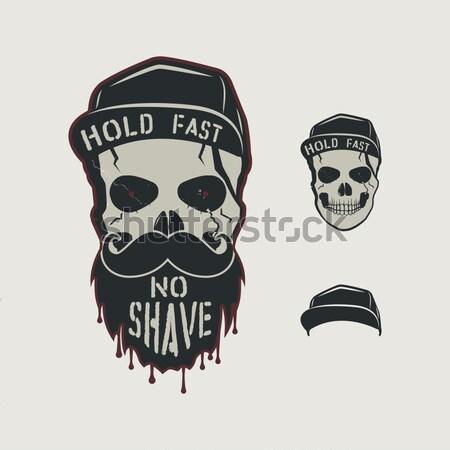 Cráneo carácter sangre CAP vintage Foto stock © JeksonGraphics