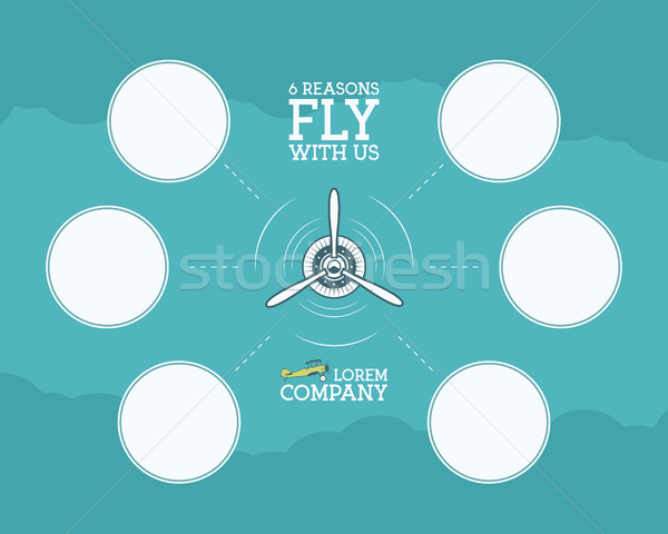 Vintage avion Voyage infographie vide bulle Photo stock © JeksonGraphics