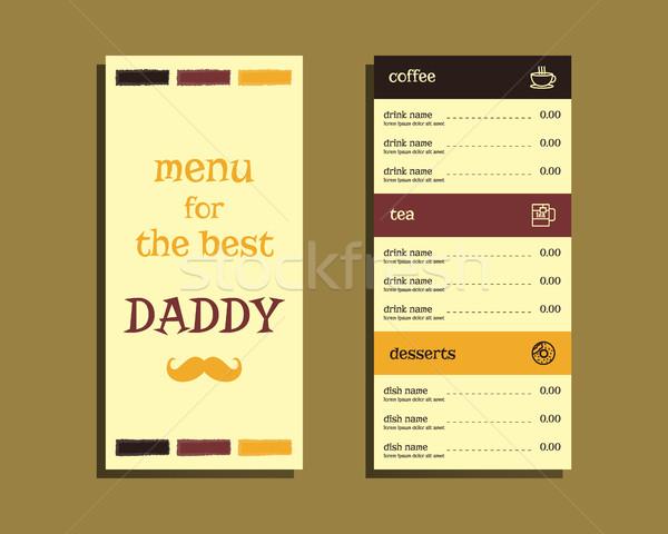 étterem kávézó menü nap terv bajusz Stock fotó © JeksonGraphics