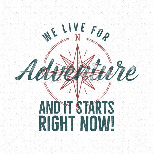 冒険 ヴィンテージ ラベル 印刷 デザイン ライブ ストックフォト © JeksonGraphics