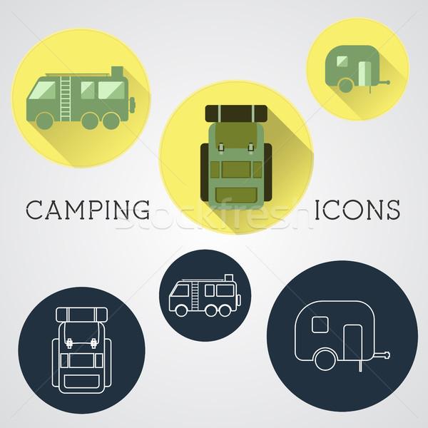 Set of Outdoor Adventure Icons. Stock photo © JeksonGraphics