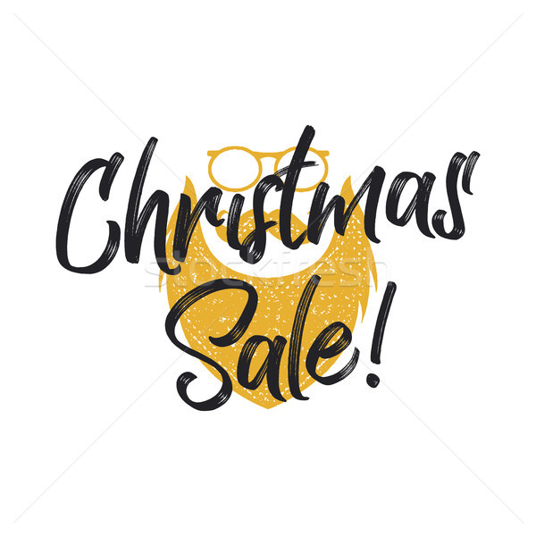 Christmas sale lettering and typography elements with santa charachter. Holiday Online shopping type Stock photo © JeksonGraphics