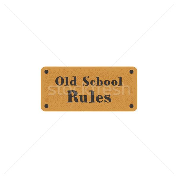 Vecchio scuola etichetta retro carta vintage Foto d'archivio © JeksonGraphics