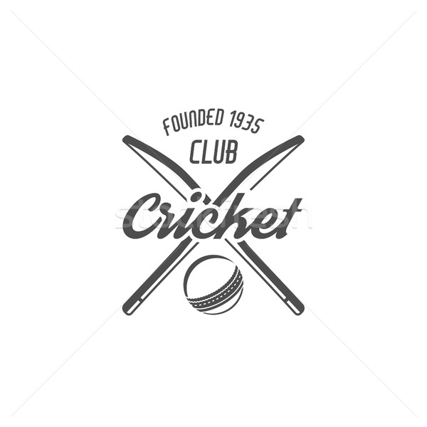 Cricket club emblem and design elements.  team logo .  tournament badge. Sports symbols with  gear,  Stock photo © JeksonGraphics