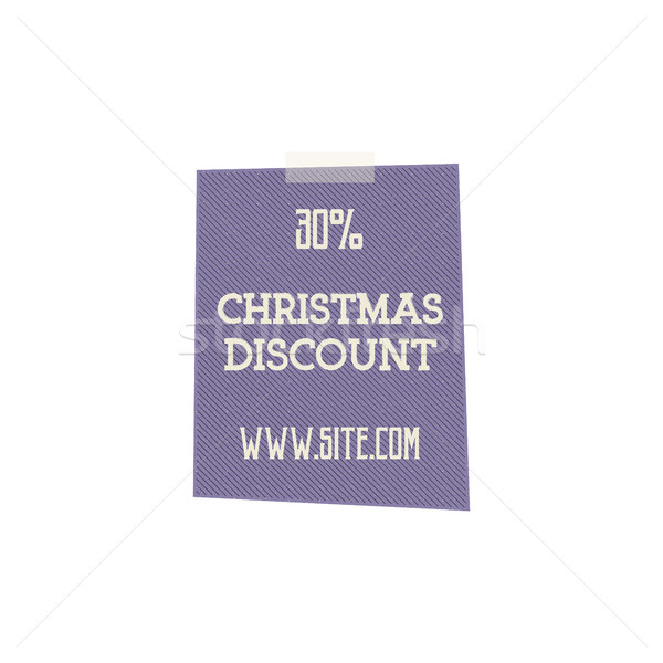 Christmas, and new year sale label, tag with a winter holiday symbols. Discount badge. retro design Stock photo © JeksonGraphics