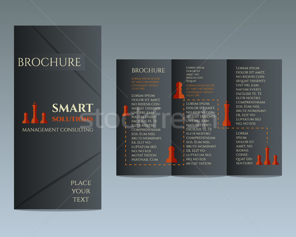 Business Brochure and flyer design template in polygonal style concerning to management, consulting  Stock photo © JeksonGraphics