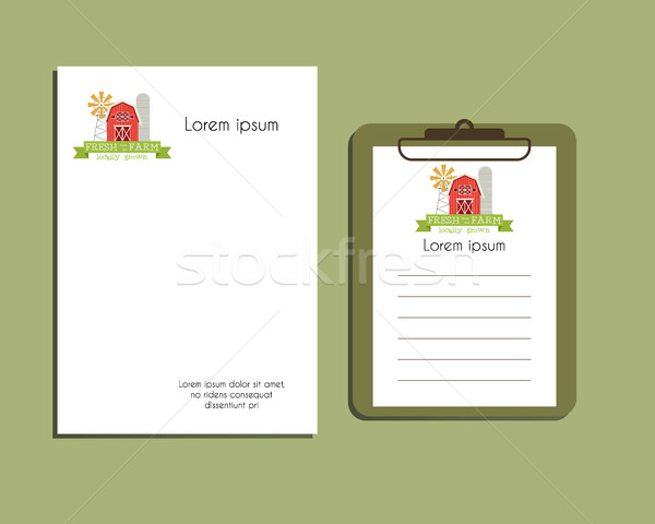 Professional Corporate Identity kit or business kit. A4 and A5 size. With organic logo template bran Stock photo © JeksonGraphics