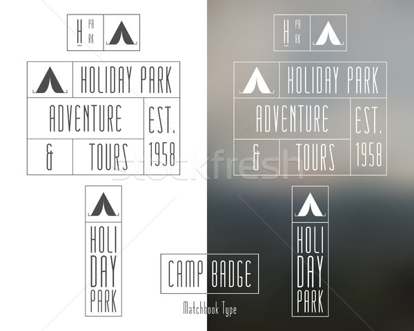 Outdoor travel and camping Collection of minimal monochrome hipster vintage label, logotype , badge  Stock photo © JeksonGraphics