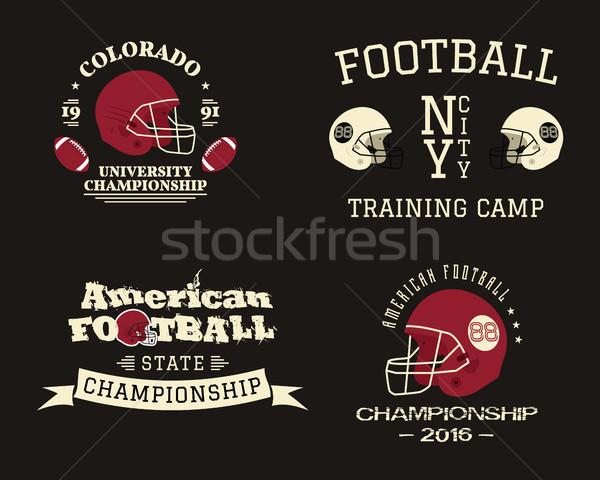 Amerikaanse voetbal kampioenschap team opleiding kamp Stockfoto © JeksonGraphics