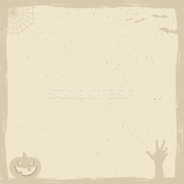 Heureux halloween affiche modèle vacances symboles Photo stock © JeksonGraphics