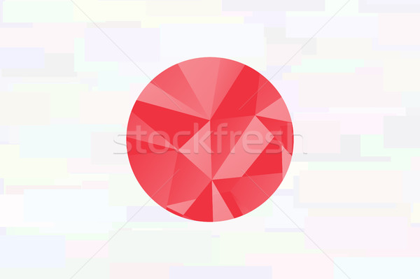 Giappone bandiera pattern stagno carta japanese Foto d'archivio © JeksonGraphics