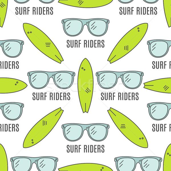 серфинга структур лет бесшовный дизайна Surfer Сток-фото © JeksonGraphics