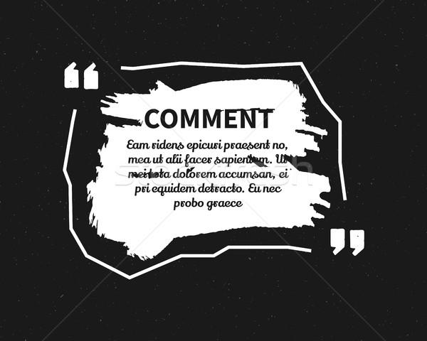 Suluboya mürekkep sıçrama aktarmak şablon kabarcık Stok fotoğraf © JeksonGraphics