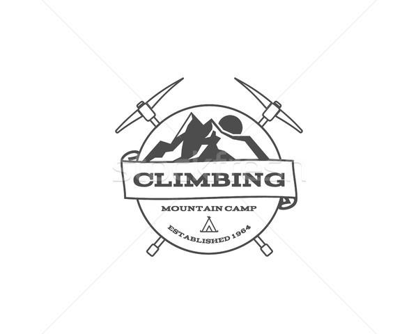 Bağbozumu dağ trekking tırmanma yürüyüş kamp Stok fotoğraf © JeksonGraphics