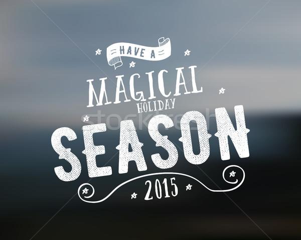Alegre Navidad temporada vector Foto stock © JeksonGraphics