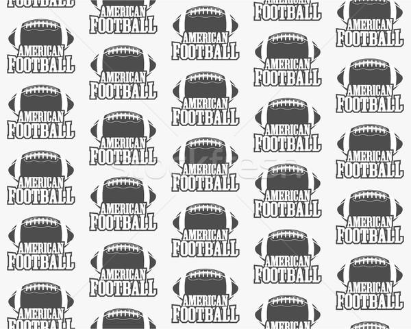 ベクトル アメリカン サッカー スポーツ レトロな ストックフォト © JeksonGraphics