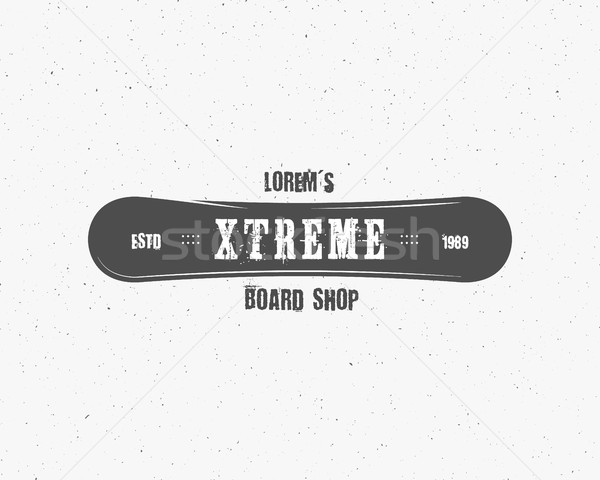 Snowboarding extreme shop logo, label template. Winter sport store badge. Emblem and icon. Mountain  Stock photo © JeksonGraphics