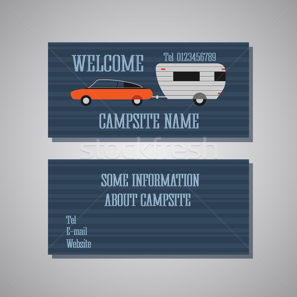 Campsite Card Template Stock photo © JeksonGraphics