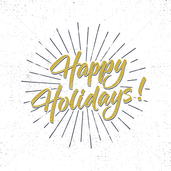 Happy Holidays text and lettering. Holiday typography Vector Illustration. Letters composition with  Stock photo © JeksonGraphics
