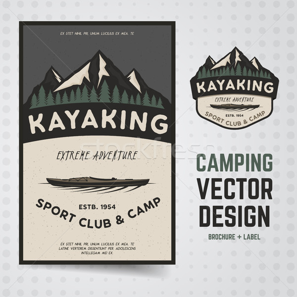 Camping adventure . Travel brochure and label. The concept of flyer for your business, presentations Stock photo © JeksonGraphics