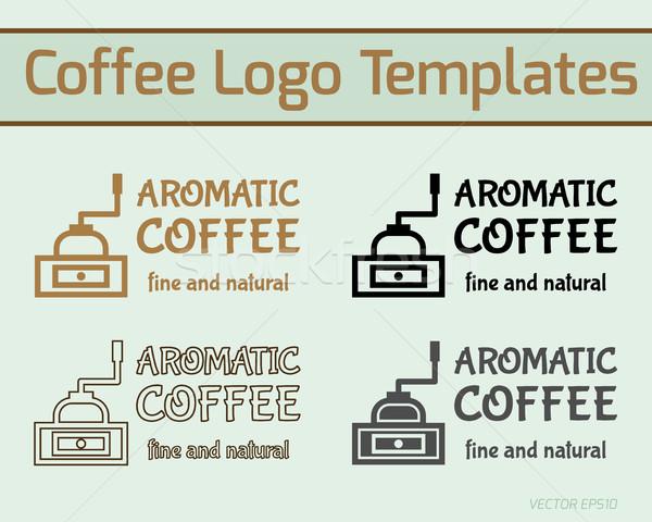 Café Servicio icono logo plantilla Foto stock © JeksonGraphics
