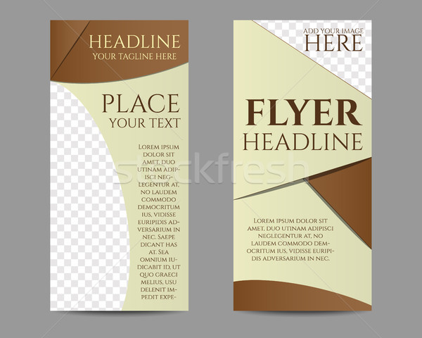 Flyer template or brochure low poly design. Mock up design with shadow. Triangle, geometric style. B Stock photo © JeksonGraphics