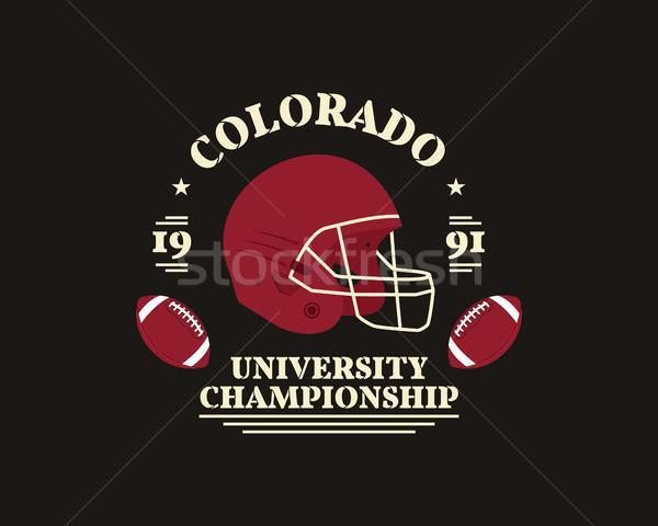 Americano futebol universidade campeonato distintivo logotipo Foto stock © JeksonGraphics