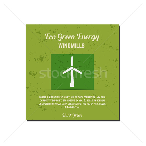 Nature banner, ecology poster with text for presentation, quotes. Eco organic labels and cards. Gree Stock photo © JeksonGraphics