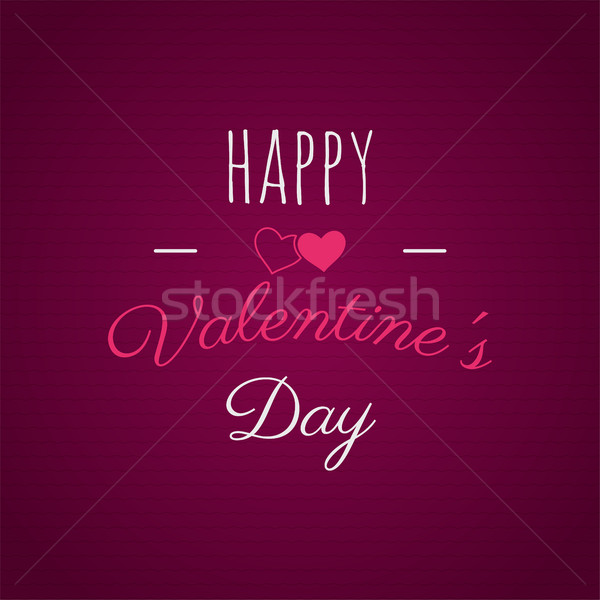 Happy Valentines day lettering. photo overlay, hand drawn lettering , inspirational text. Valentine  Stock photo © JeksonGraphics