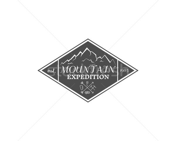ヴィンテージ 山 遠征 登山 ハイキング キャンプ ストックフォト © JeksonGraphics