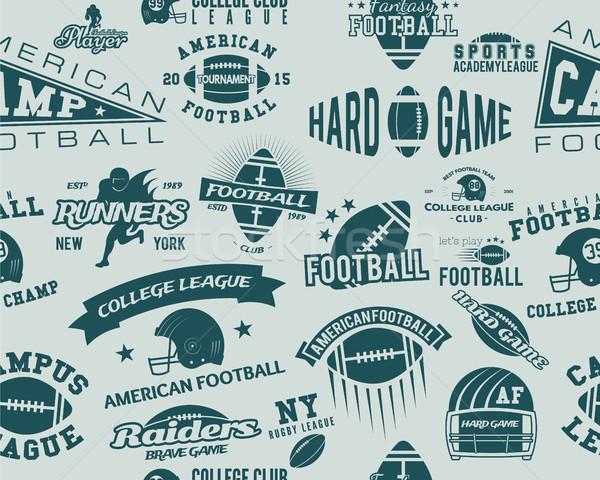 Főiskola rögbi amerikai futball csapat végtelen minta Stock fotó © JeksonGraphics