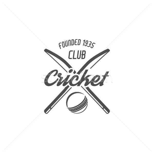 Cricket club emblem and design elements. team logo . tournament badge. Sports symbols with gear, equ Stock photo © JeksonGraphics