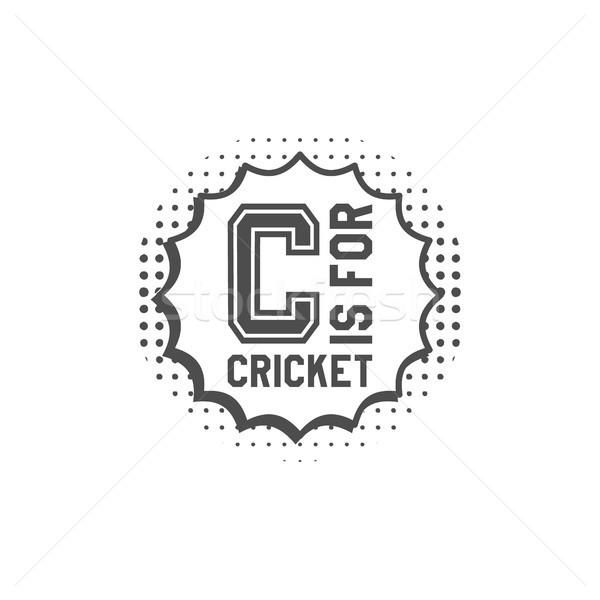 Cricket monogram embleem ontwerp communie logo Stockfoto © JeksonGraphics
