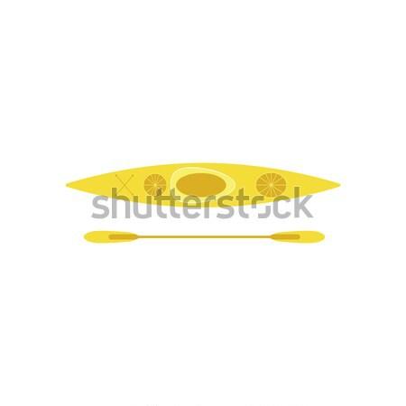 Kajak ikon víz sport nyár felirat Stock fotó © JeksonGraphics
