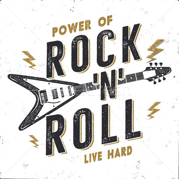 Vintage rock rollen poster rockmuziek Stockfoto © JeksonGraphics