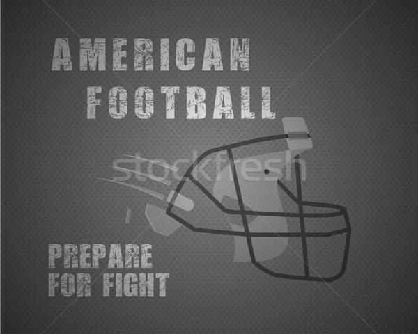 Moderne uniek amerikaanse voetbal poster motivatie Stockfoto © JeksonGraphics