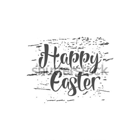Easter grunge sign - Happy Easter. Easter wish overlay, lettering label design. Retro holiday badge. Stock photo © JeksonGraphics