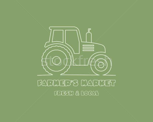 Tractor diseño de logotipo plantilla cosecha granja icono Foto stock © JeksonGraphics