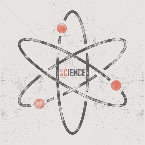 Vintage ciencia anunciante tipografía elementos retro Foto stock © JeksonGraphics