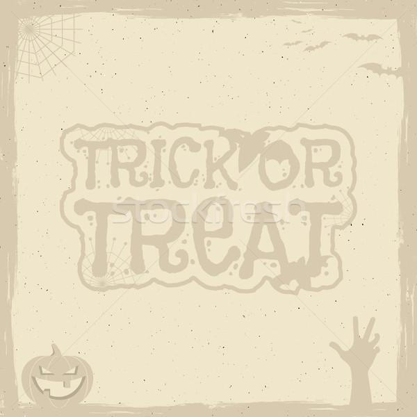Szczęśliwy halloween plakat szablon wakacje symbolika Zdjęcia stock © JeksonGraphics
