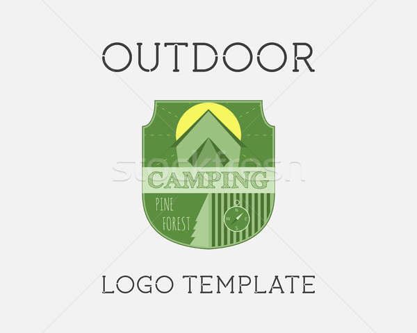 Adventure Outdoor Tourism Travel Logo Template Vintage Labels design. Summer forest holiday park. Ex Stock photo © JeksonGraphics