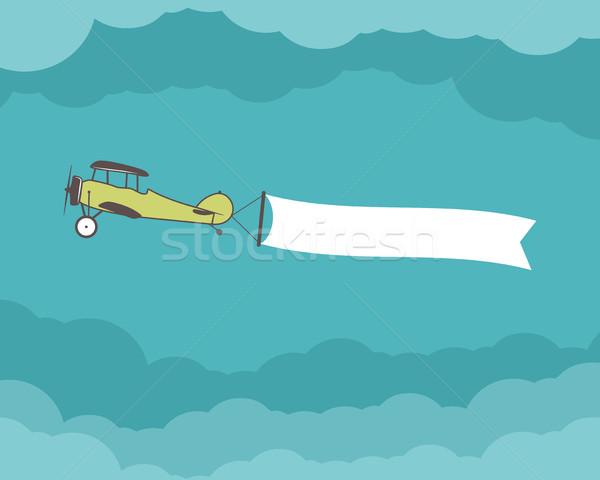 Samolot banner pusty formularza zacytować tekst Zdjęcia stock © JeksonGraphics