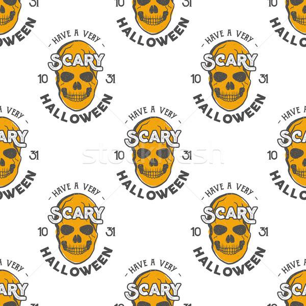 Halloween kafatasları tatil matbaacılık Stok fotoğraf © JeksonGraphics