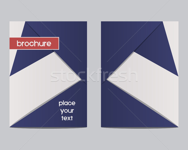 Stock photo: France 2016 Football Brochure Flyer design Layout template. Triangle abstract style. The national co