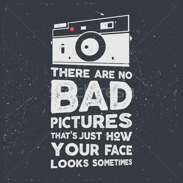 Tipografía anunciante edad estilo cámara citar Foto stock © JeksonGraphics