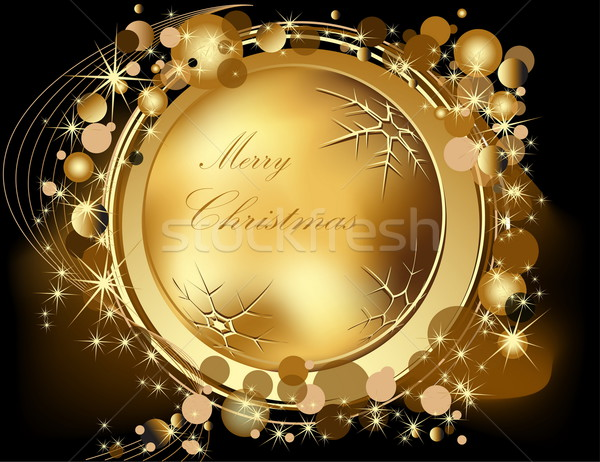 金 陽気な クリスマス 光 ボックス 冬 ストックフォト © jelen80