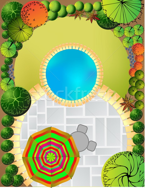 Stock photo:  Landscape  Plan