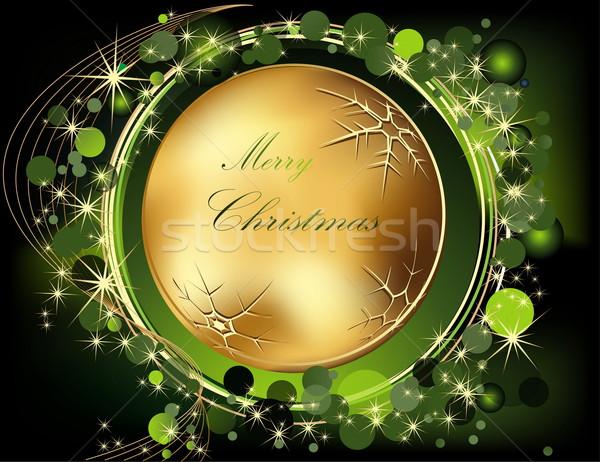 Karácsony arany zöld fény doboz tél Stock fotó © jelen80
