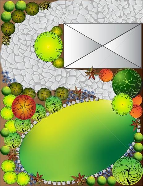 計画 庭園 シンボル ツリー 水 木 ストックフォト © jelen80